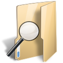 Folder saved search zoom magnifying magnifier loupe find magnify look