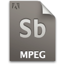 Mpeg secondary sb document file