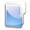 Folder filesystem blue