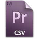 Csv document file pr