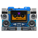 Transformers soundwave tape front
