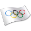 Olympic international committee flag