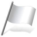 Solid color white flag