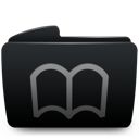 Bookmarks folder black