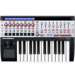 Keyboard Controler Midi Novation Music Sl Mk2 Chrome Icons 256px Icon Gallery
