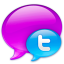 Blue logo small twitter in