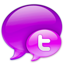 Logo twitter pink in small