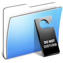 Disturb not smooth folder aqua do