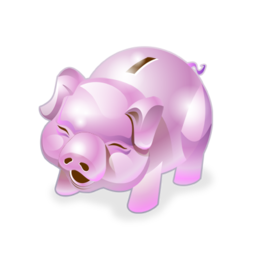 Accounting piggy bank money