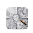 Map magnifying glass find directions
