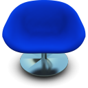 Blue seat chair