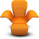 Orange seat chair