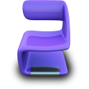 Purple seat chair