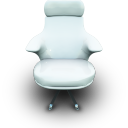 Whitevinil seat chair
