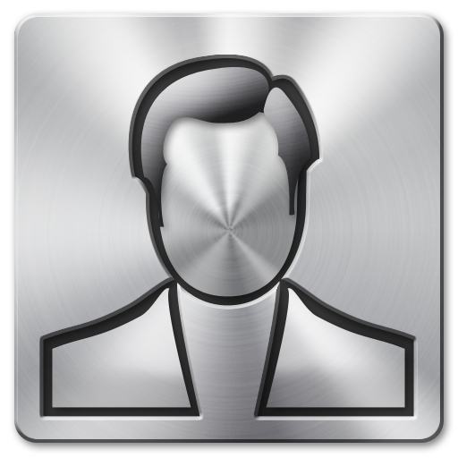 user 01 brushed metal icons 512px icon gallery