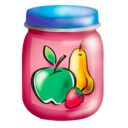 Fruits food jar puree