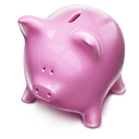 Piggybank money pink
