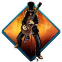 Music rock slash guitar guitar hero