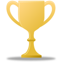 Award trophy gold