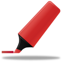 Red highlightmarker