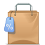 Buy webshop shopping bag tag