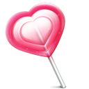 Heart love lolly