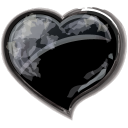 Heart black valentine