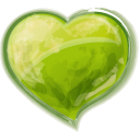 Heart green valentine