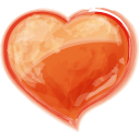 Heart orange valentine