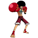Affro luffy manga boxing