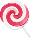 Lollypop candy red