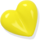 Love heart yellow