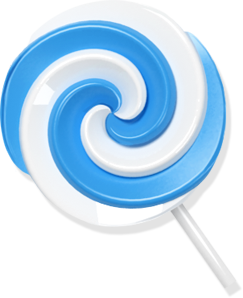 Candy lollypop blue