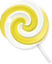 Lollypop yellow candy