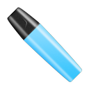 Highlighter pen cap marker shut marker blue
