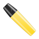 Highlighter pen cap marker shut yellow