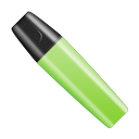 Highlighter pen cap marker green shut