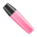 Highlighter pen cap marker pink shut