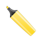 Highlighter pen marker yellow