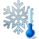 Snowflake thermometer