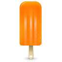 Orange cream ice