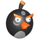 Bird white icon angry black bird
