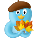 Fall leaves twitter bird