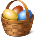 Egg basket easter