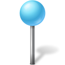Map marker ball azure