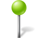 Map marker ball chartreuse