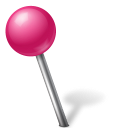 Marker map ball left pink