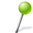 Map marker ball right chartreuse