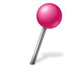 Map marker ball right pink