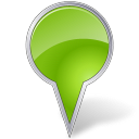 Map marker bubble vector chartreuse